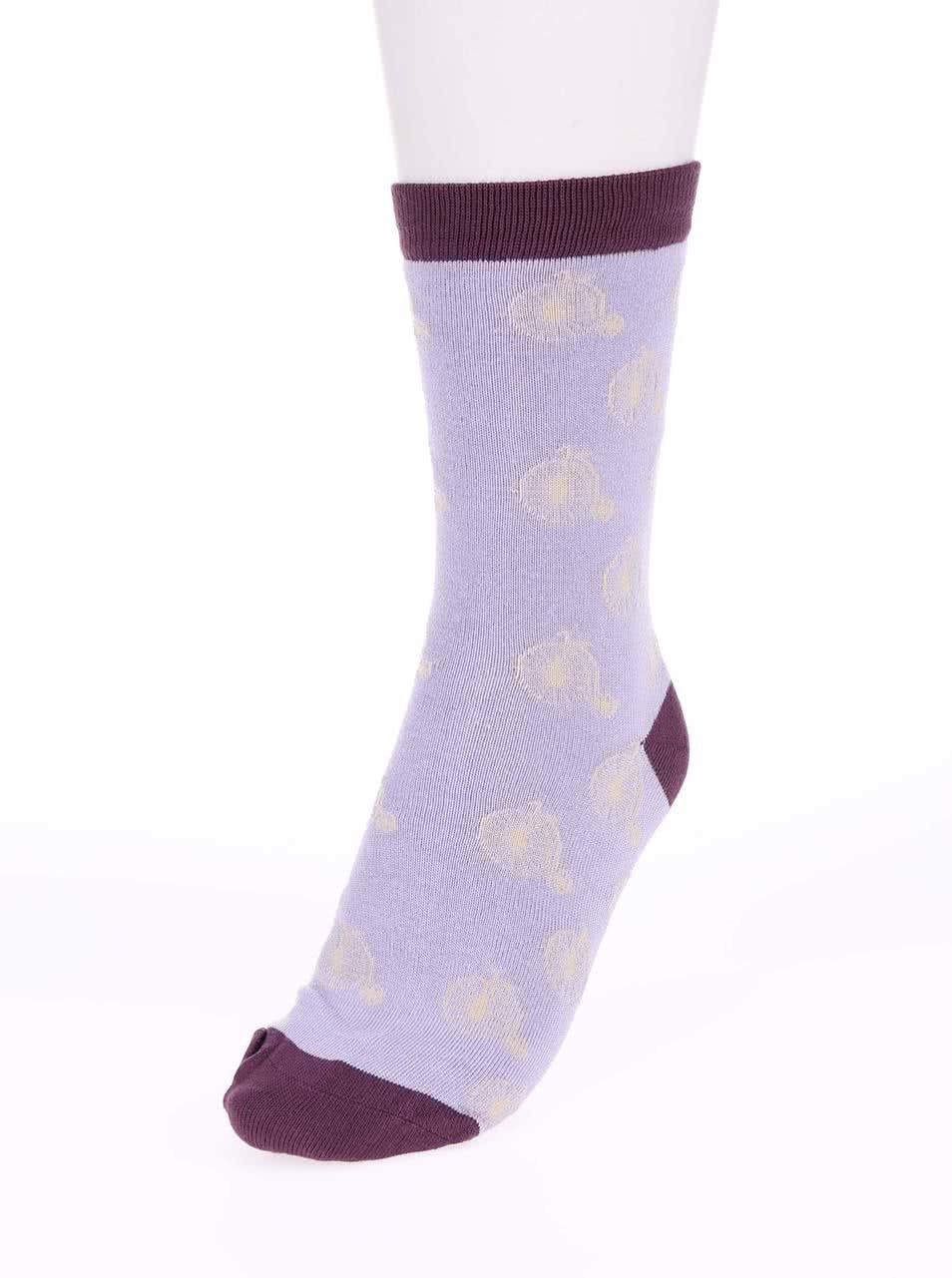 eb17c92b775 Fialové dámske bambusové ponožky Braintree Penny Farthing ...