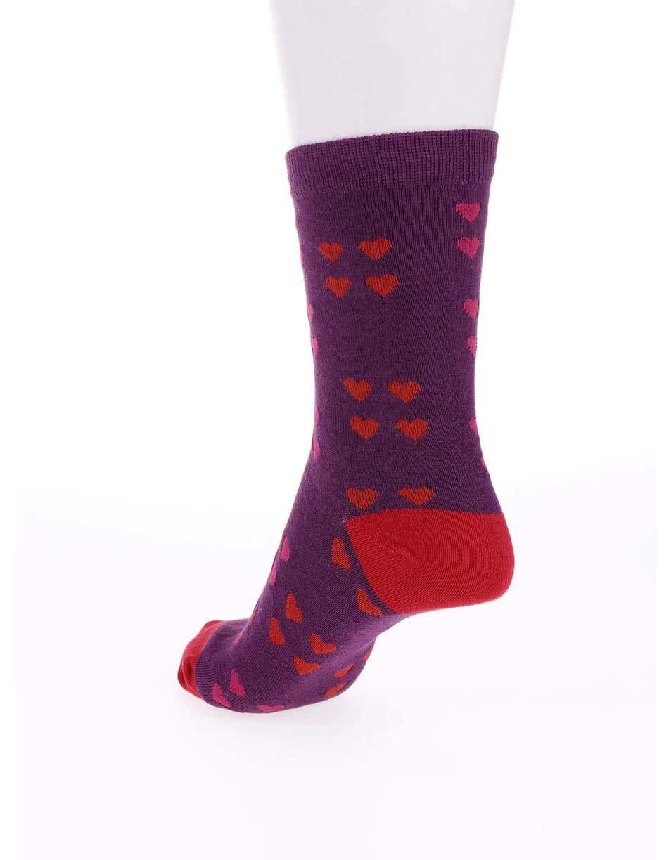 dbb6f09b4e4 Fialové dámske bambusové ponožky so srdiečkami Braintree Melrose ...