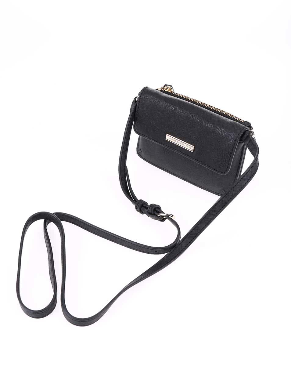 Čierna menšia kabelka cez rameno Tommy Hilfiger Honey ... 39657c16d9f