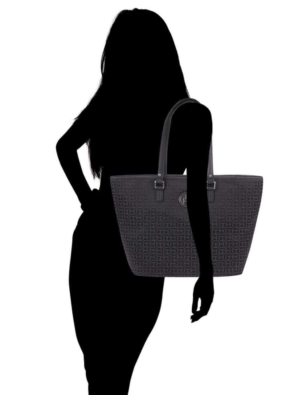 Černá vzorovaná kabelka Tommy Hilfiger Louise ... 516247eae85
