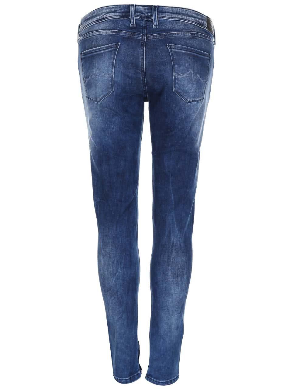 Tmavě modré dámské džíny s nízkým pasem Pepe Jeans Cher ... 44a635791f