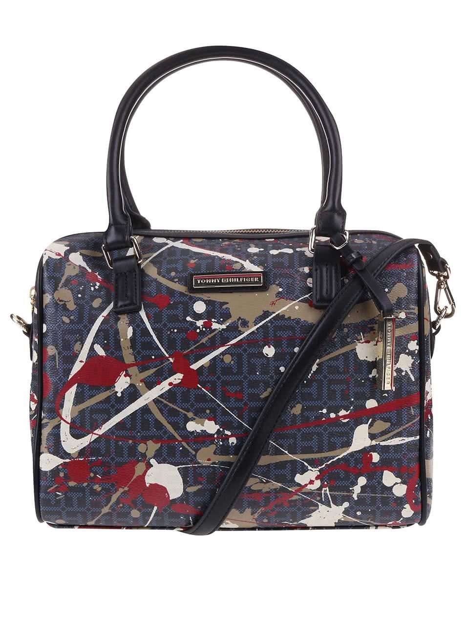 Čierna kabelka s farebnou potlačou Tommy Hilfiger Irene ... 3cccb3dada5