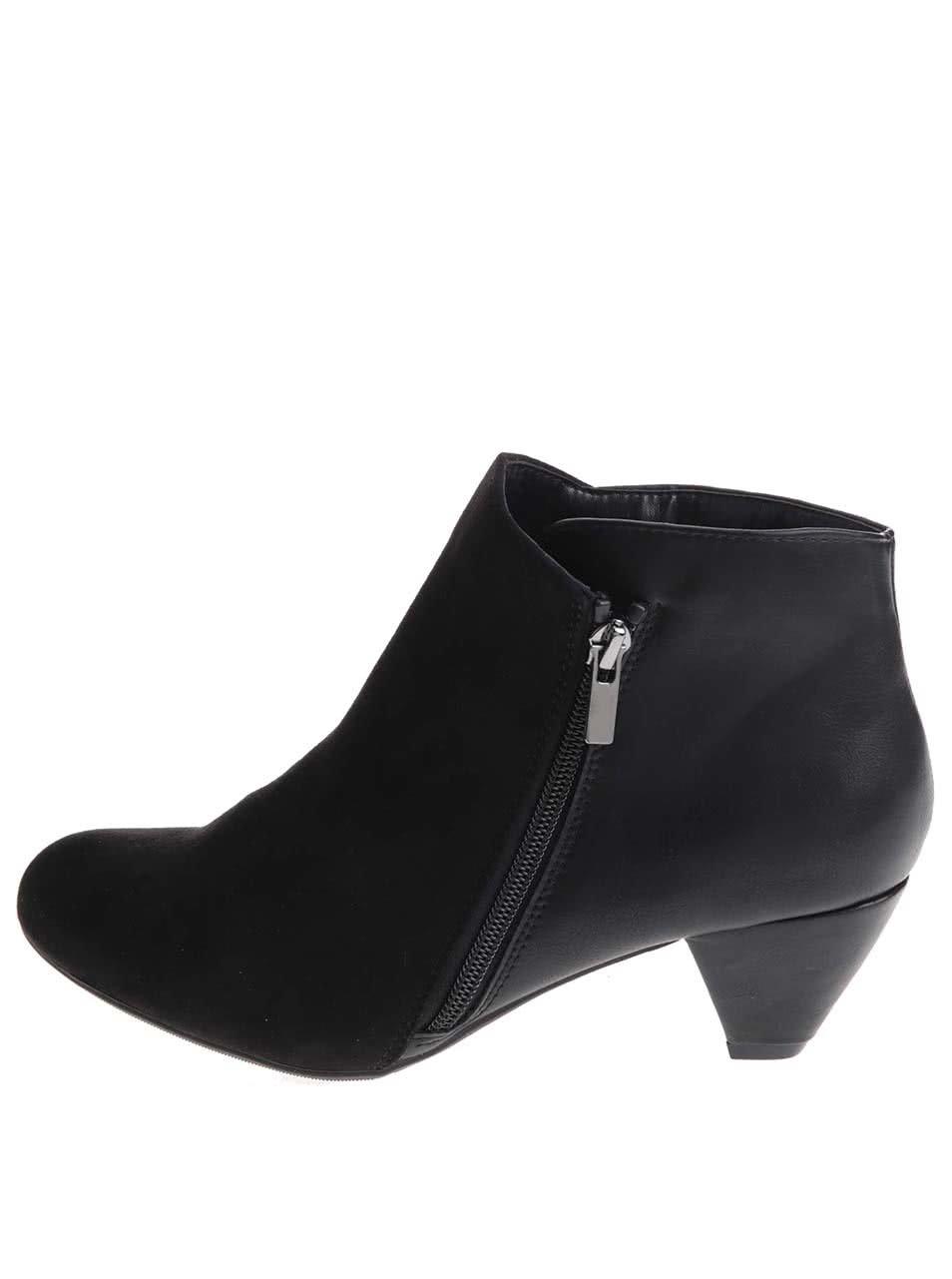 af14b411af6 Černé kotníkové boty na nízkém podpatku Dorothy Perkins ...