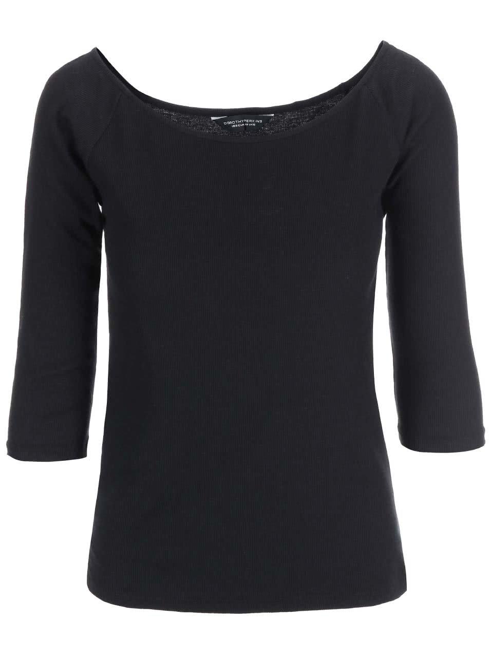 0b3cffca16ff Čierne tričko s lodičkovým výstrihom Dorothy Perkins ...
