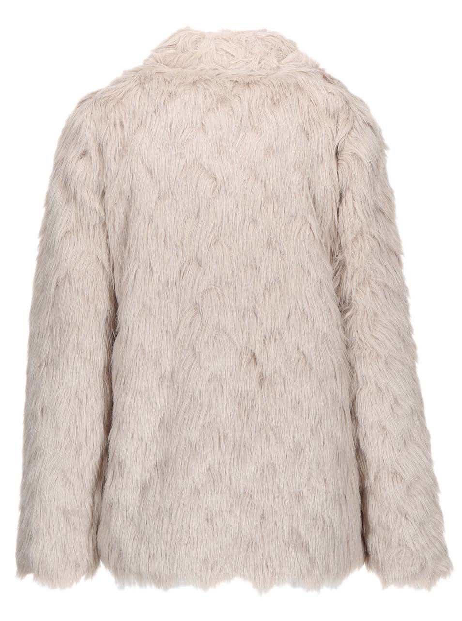 382b0b9a2252 Béžový kabát z umelej kožušiny Dorothy Perkins ...