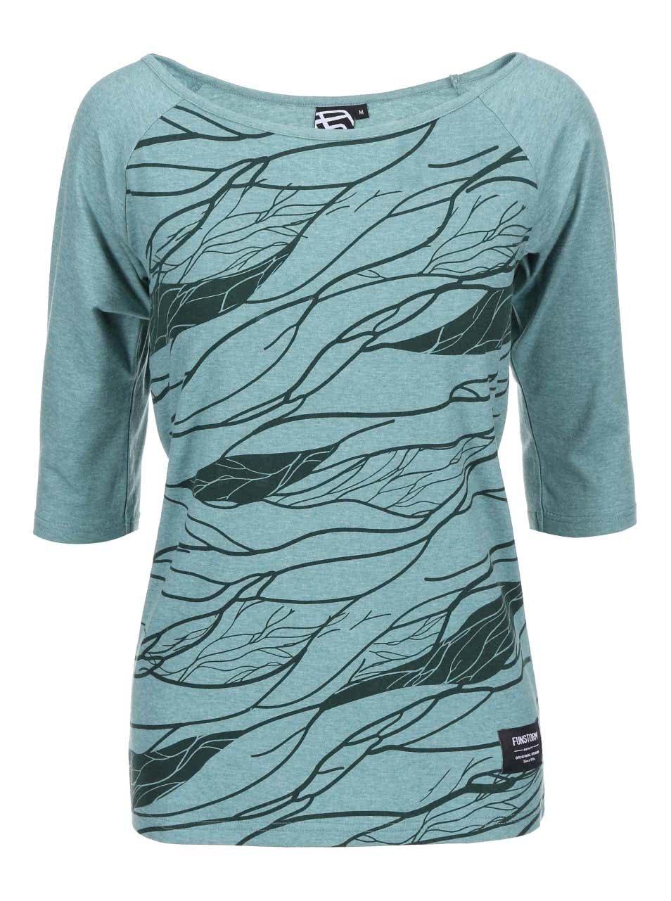 2ce0307fccac Zelené dámske tričko s potlačou Funstorm Vinsa ...