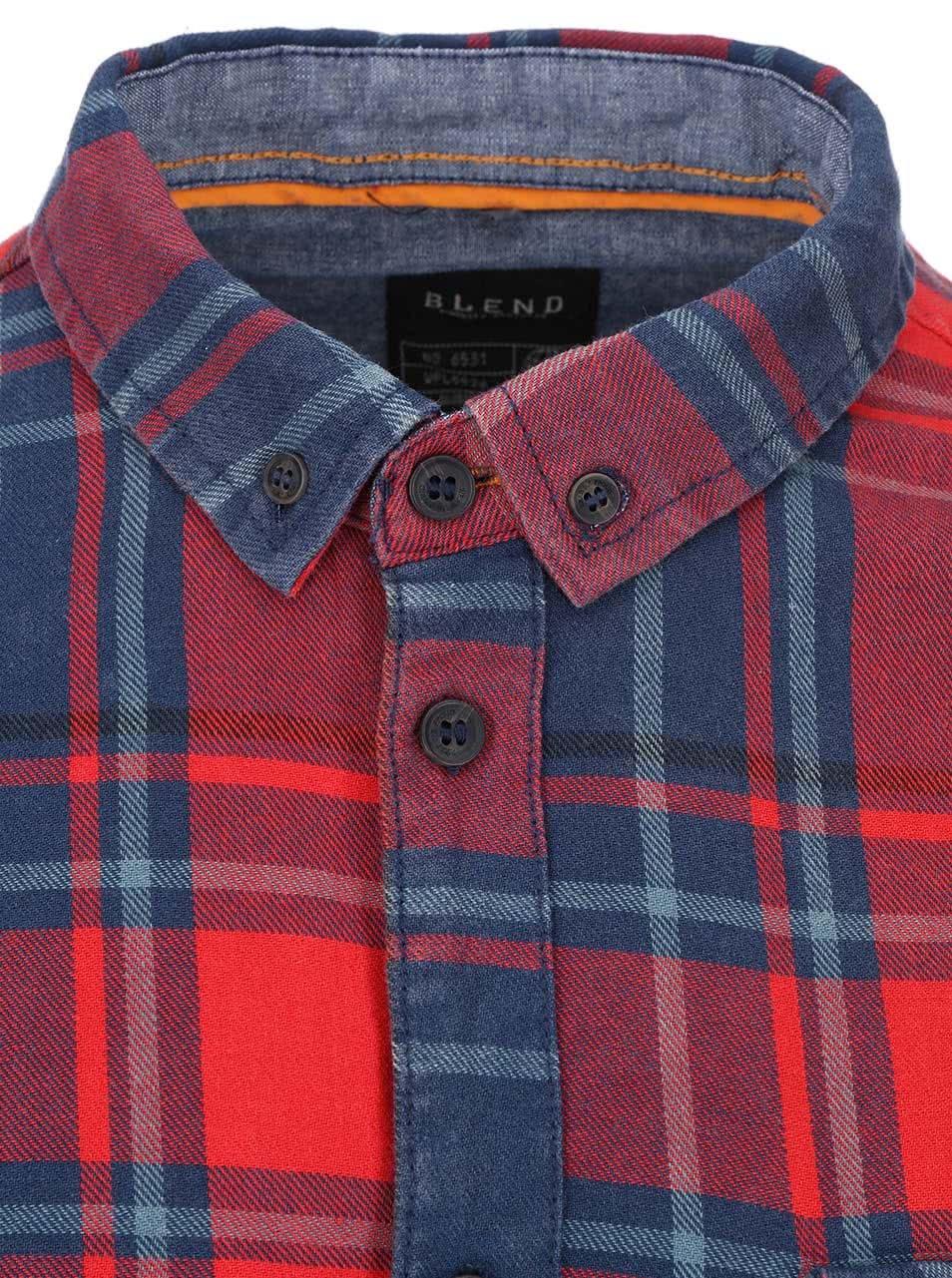 7efd22887e32 Modro-červená kockovaná košeľa Blend ...