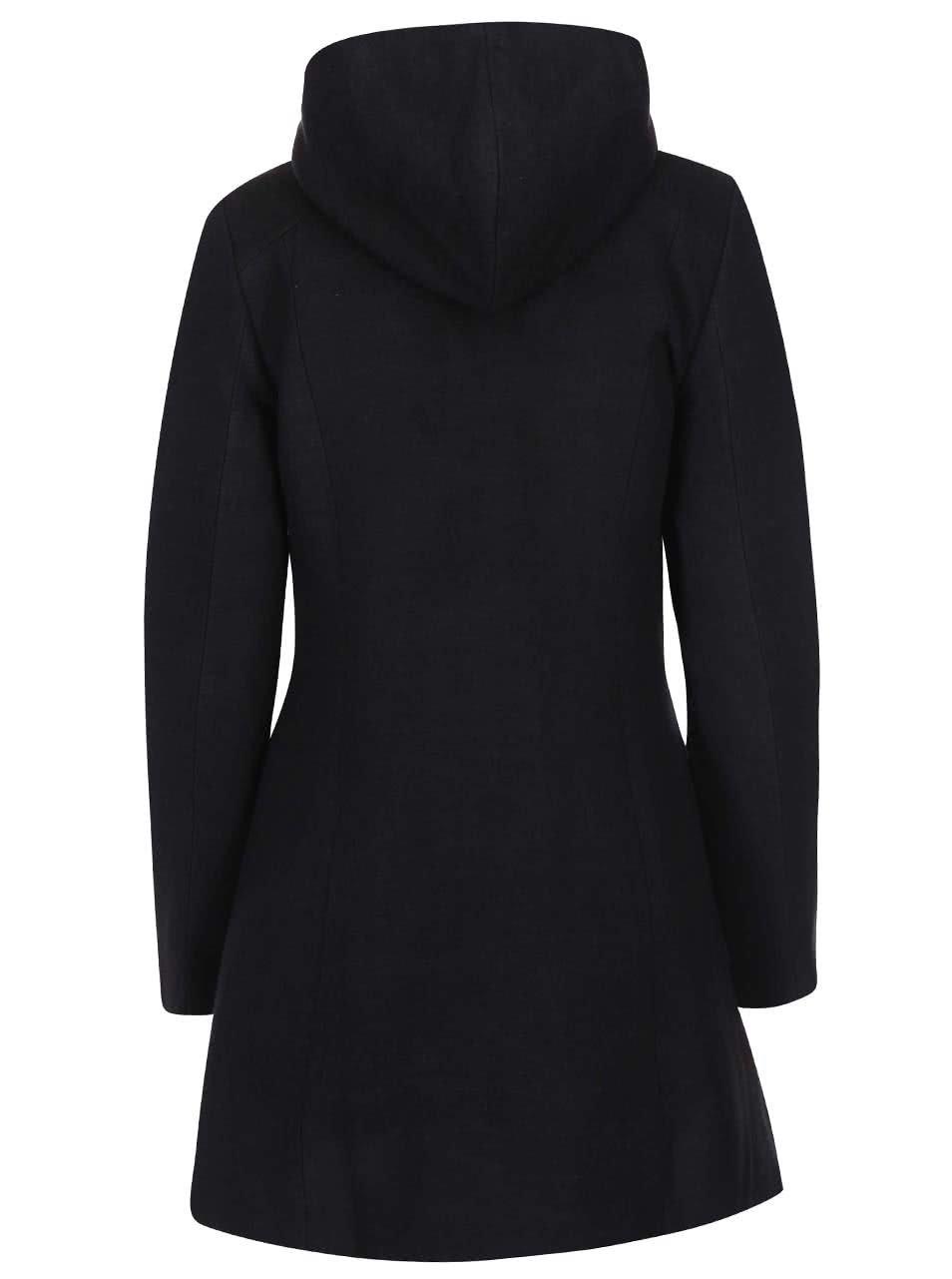 Černý kabát s květinovou podšívkou Desigual Lucia ... 5e91b95ec8c