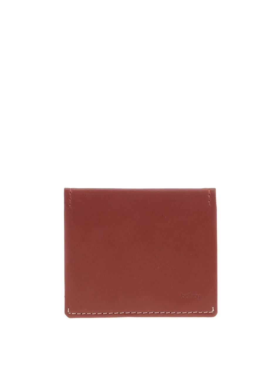 Cihlově hnědá kožená peněženka Bellroy Slim Sleeve
