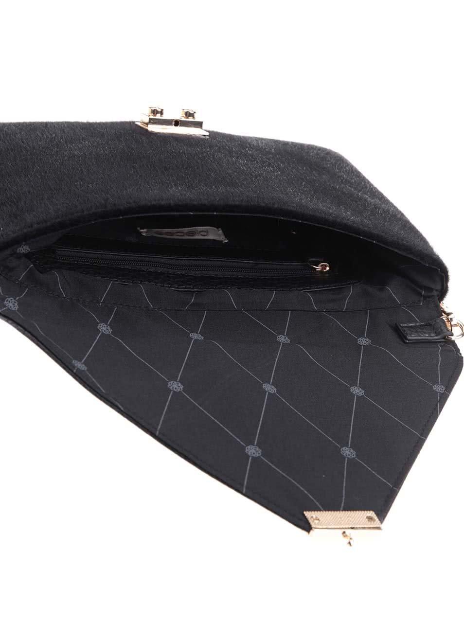 Čierna listová kabelka Pieces Rihanna ... 85bc81289bc