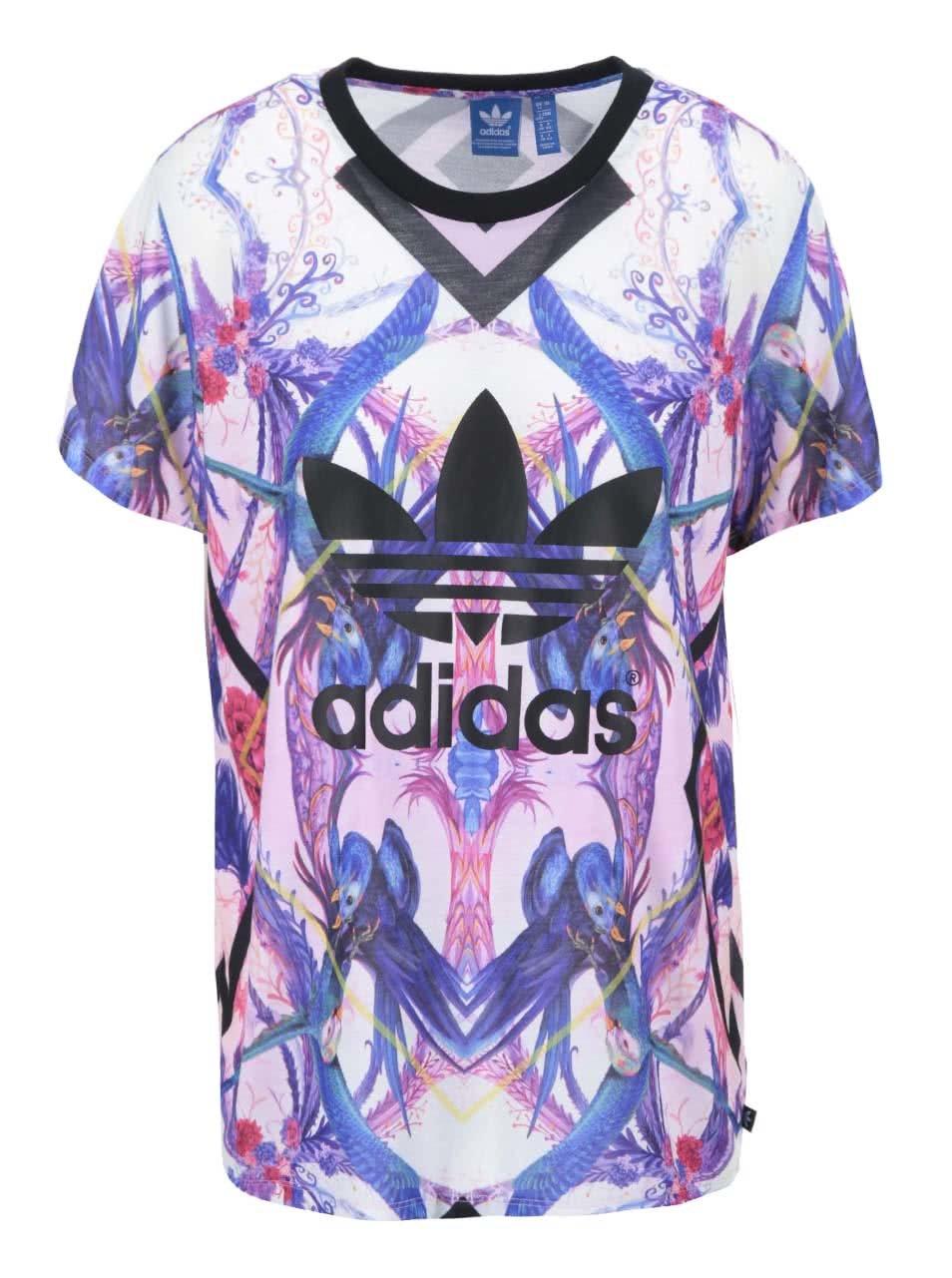Barevné dámské vzorované triko adidas Originals Florera ... b44dedb2b39