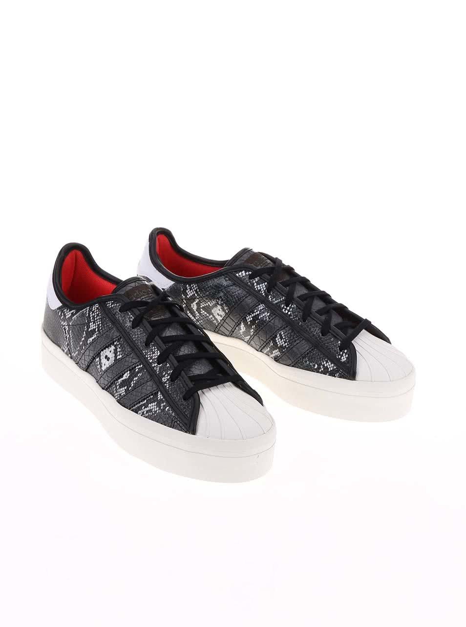 f1ad48ad7df4 Sivé dámske tenisky s hadím vzorom adidas Originals Superstar ...
