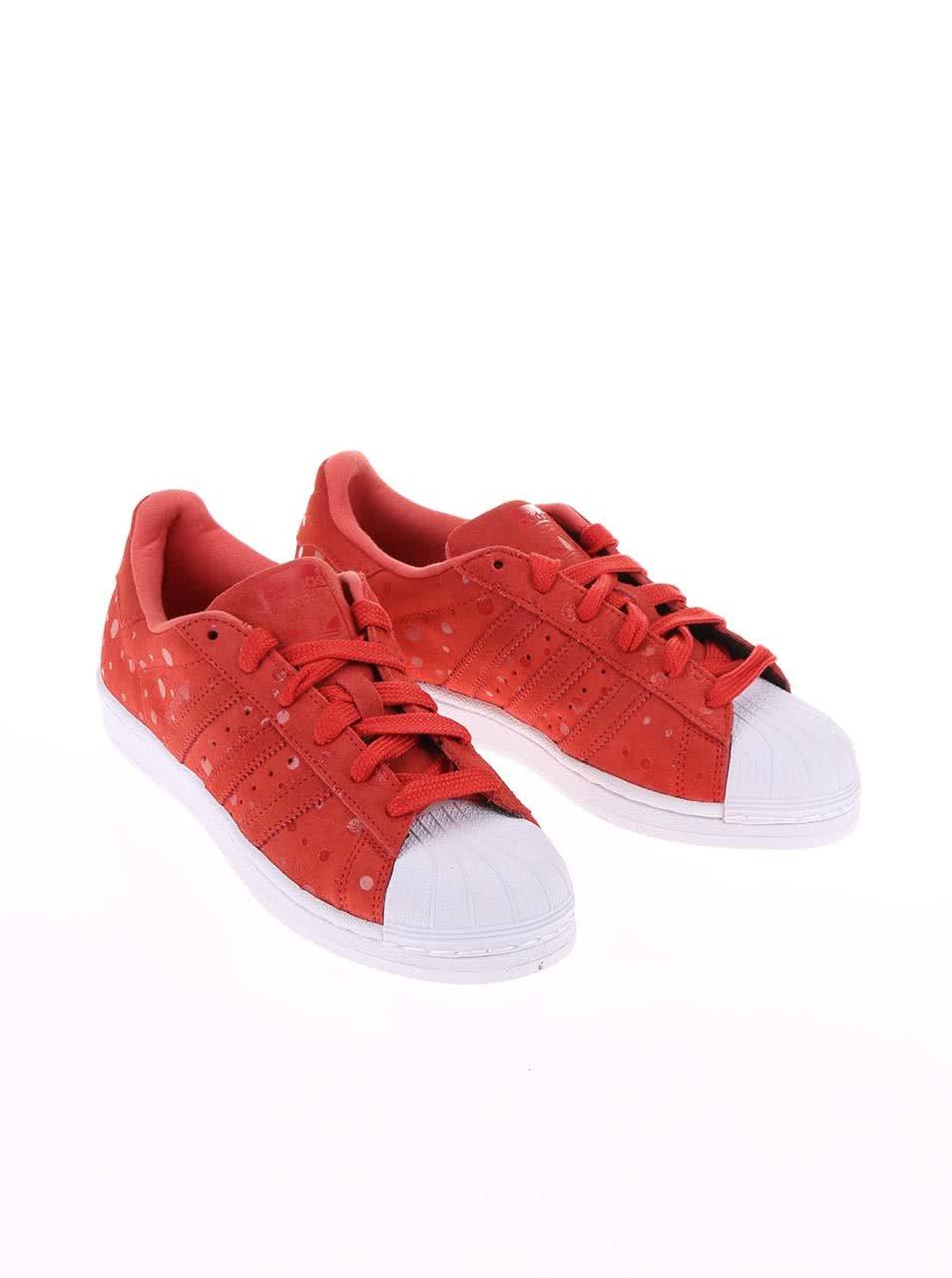 Červené dámske tenisky adidas Originals Superstar ... 3cdb595280