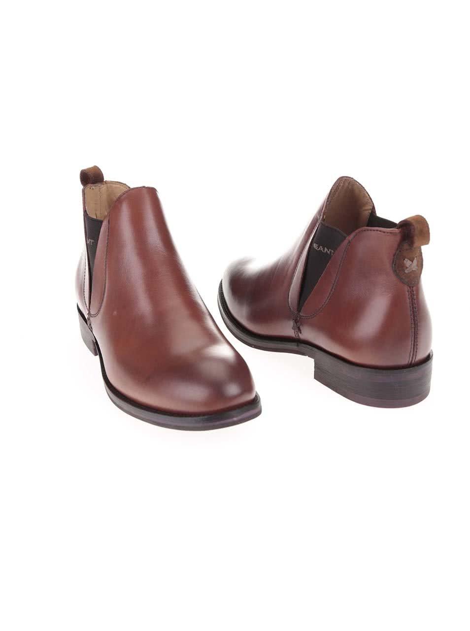 Hnedé dámske členkové topánky Gant Avery ... 5a1af77ec7e