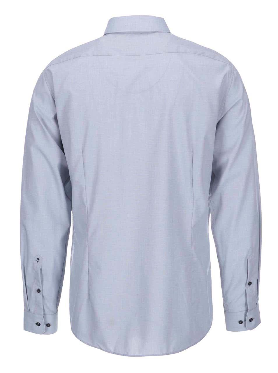 0cffc7773ede Modrosivá košeľa s jemným vzorom Seidensticker Modern Kent Patch ...