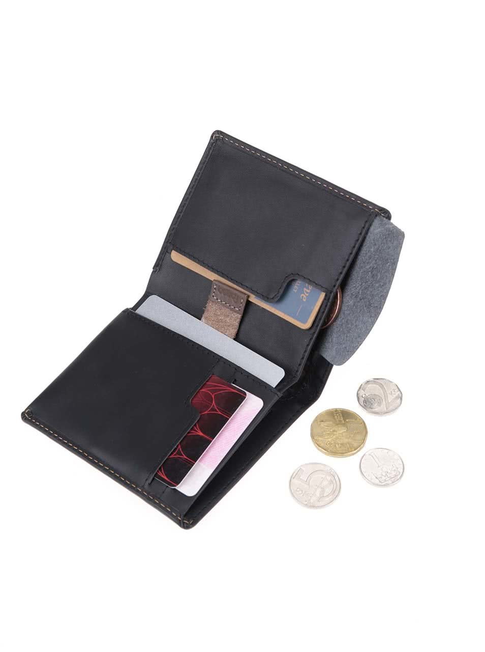 Černá kožená peněženka Bellroy Note Sleeve