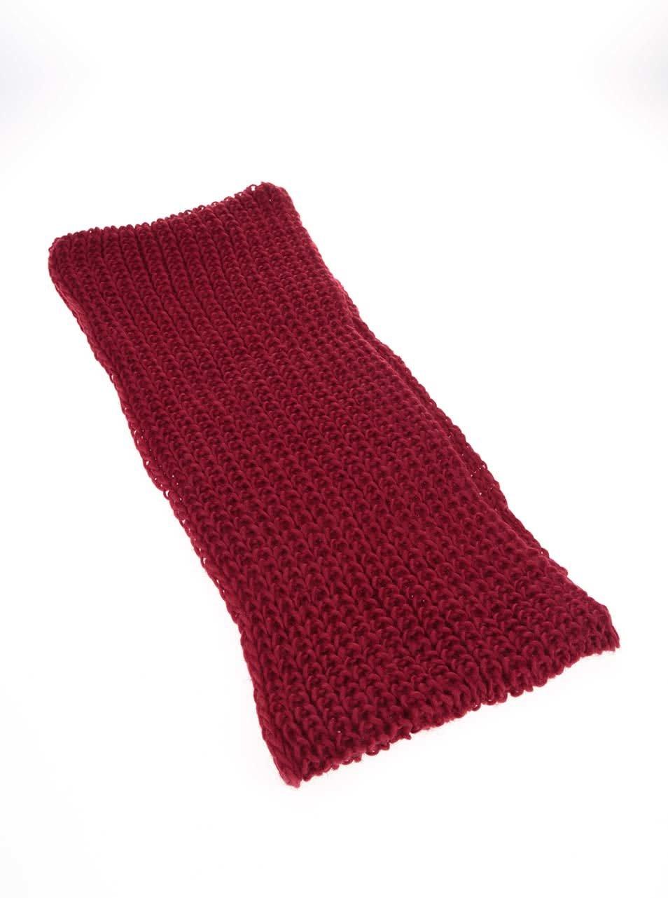 Červená dutá šála Haily´s Strick ... 00228bdb2e