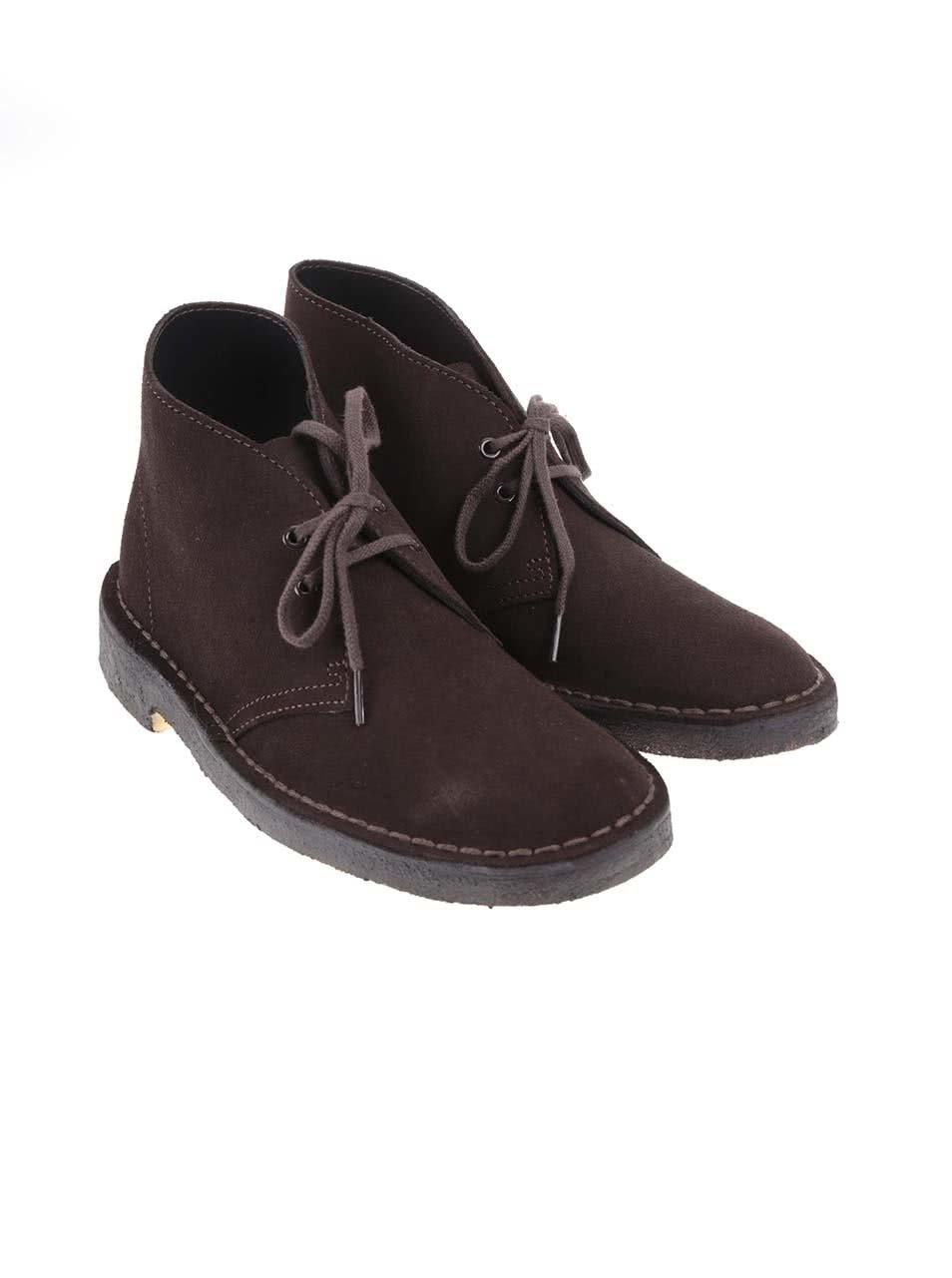 Hnedé dámske kožené členkové topánky Clarks Desert Boot ... 09c8142eac9