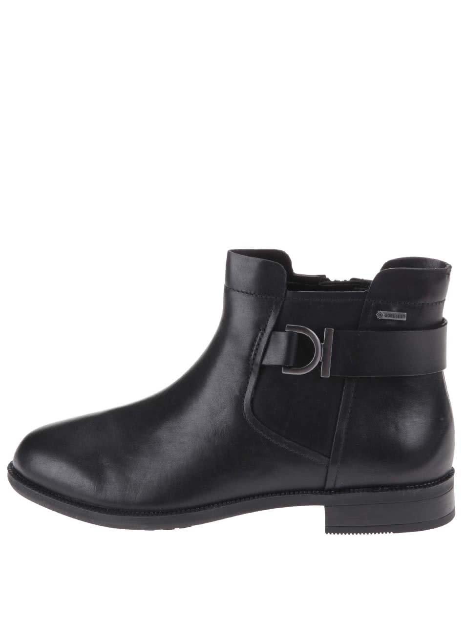 09dd02d7a6 Černé dámské kožené kotníkové boty s membránou GORE-TEX Clarks Mint Jam ...