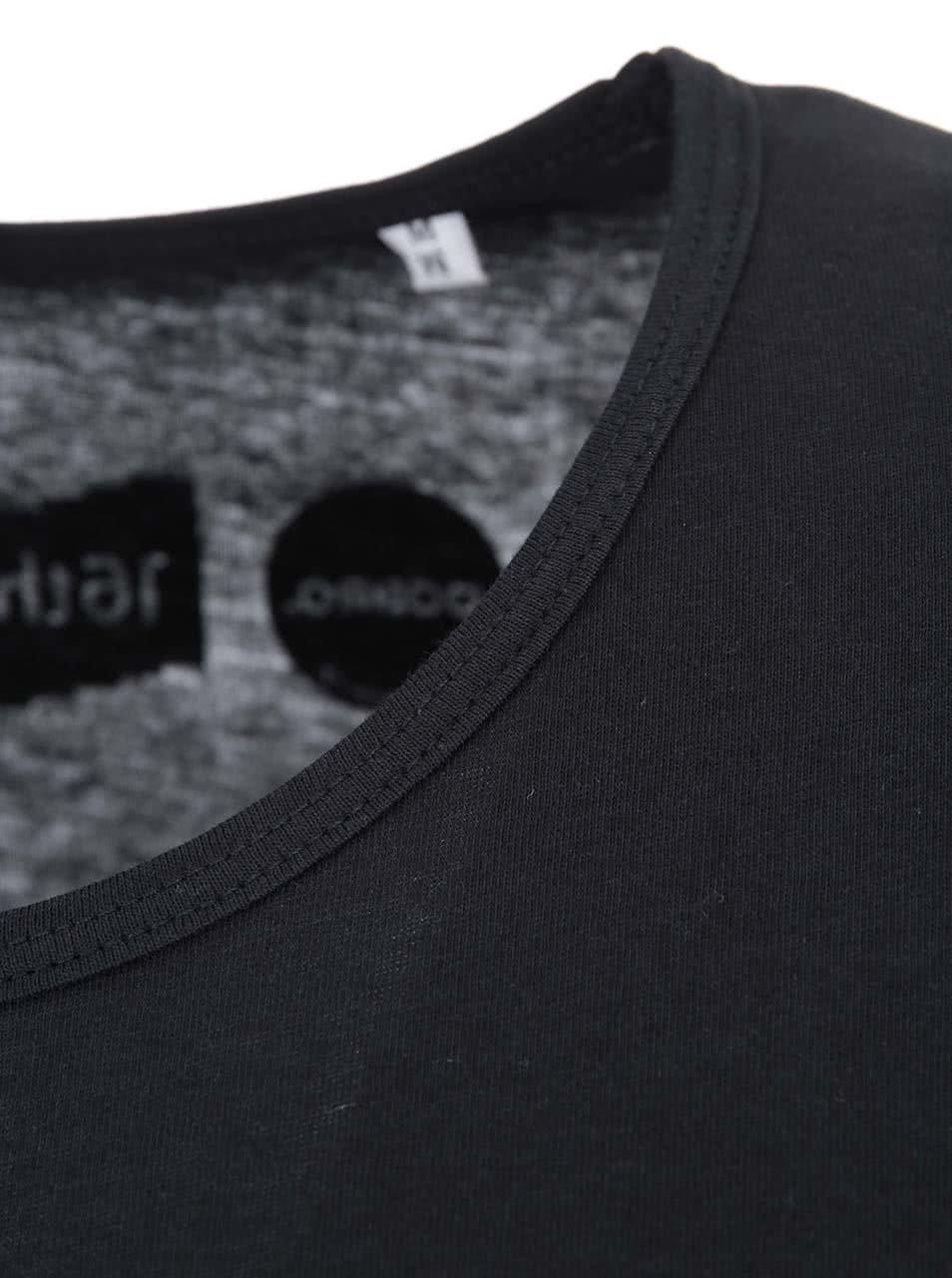 """""""Dobré"""" černé unisex triko s potiskem pro Mezipatra"""