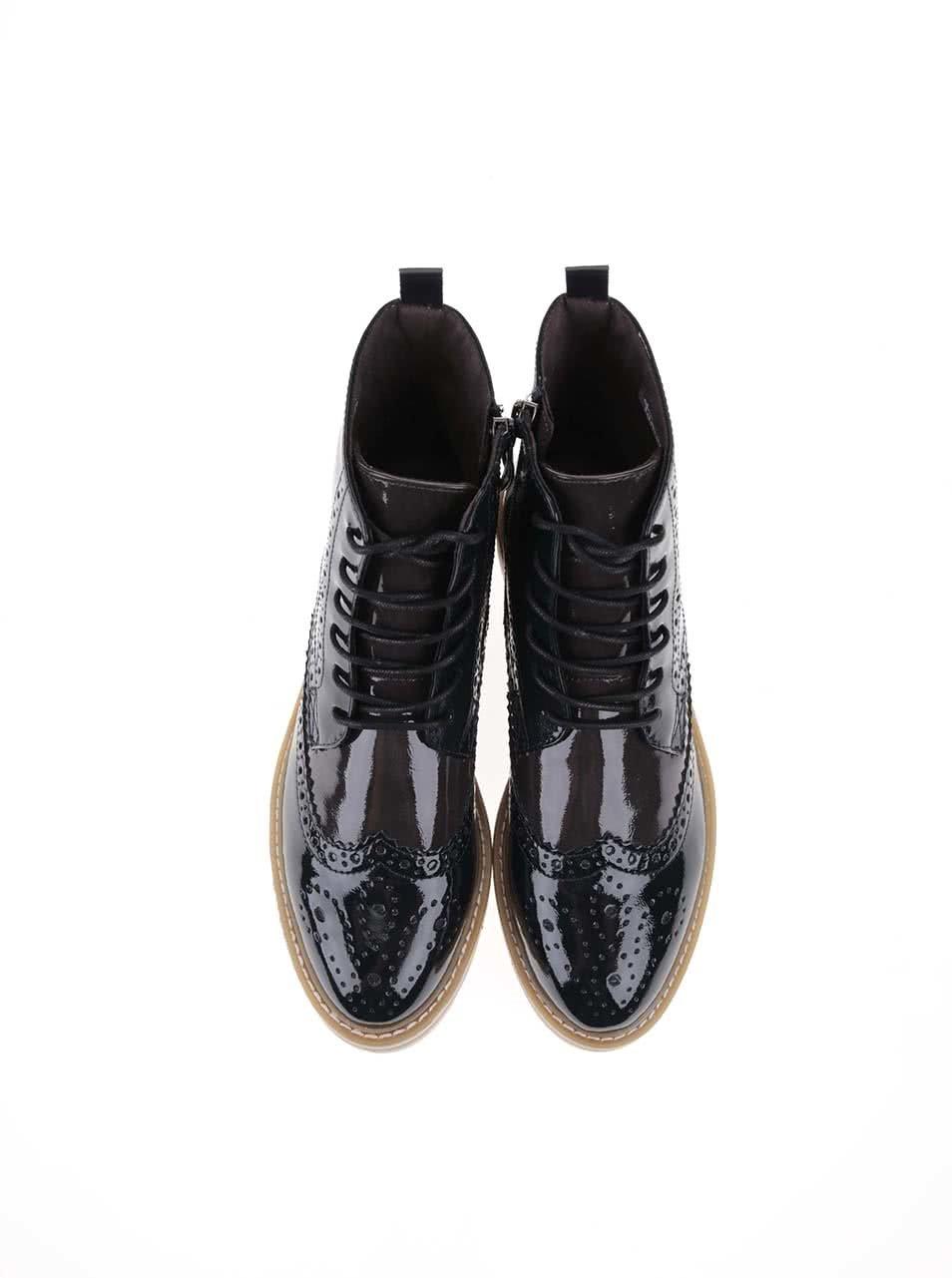 78ef5057ff03c Sivo-modré lakované členkové topánky Tamaris   ZOOT.sk