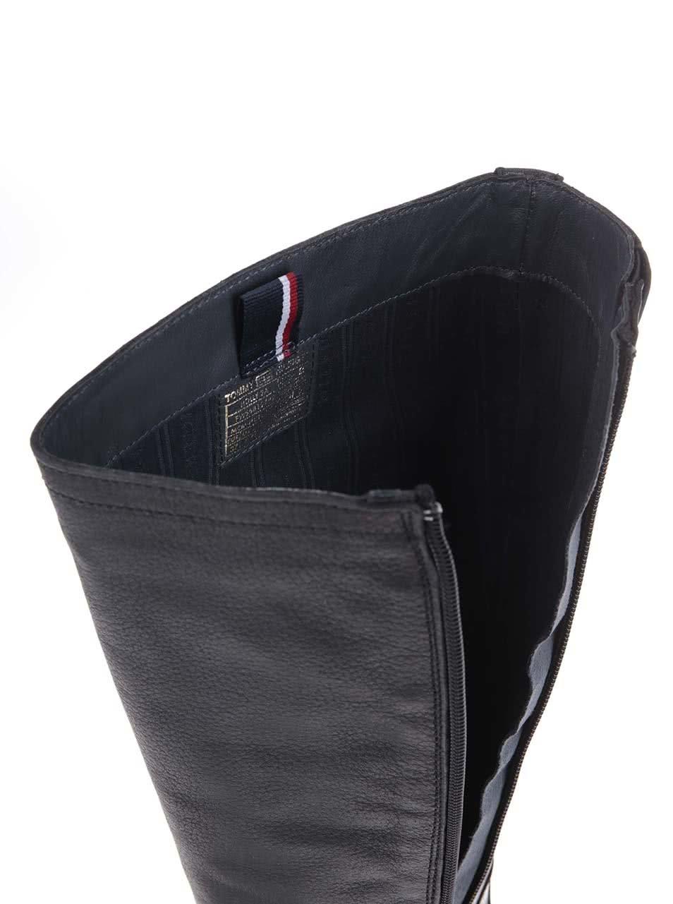 fd06d0409e Čierne kožené čižmy Tommy Hilfiger Holly ...