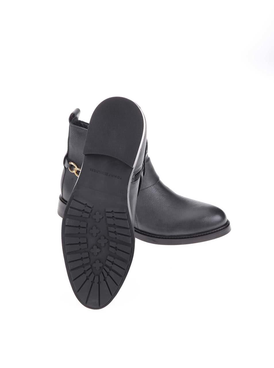 Šedé dámské kožené kotníkové boty Tommy Hilfiger Holly ... 03e46c2165