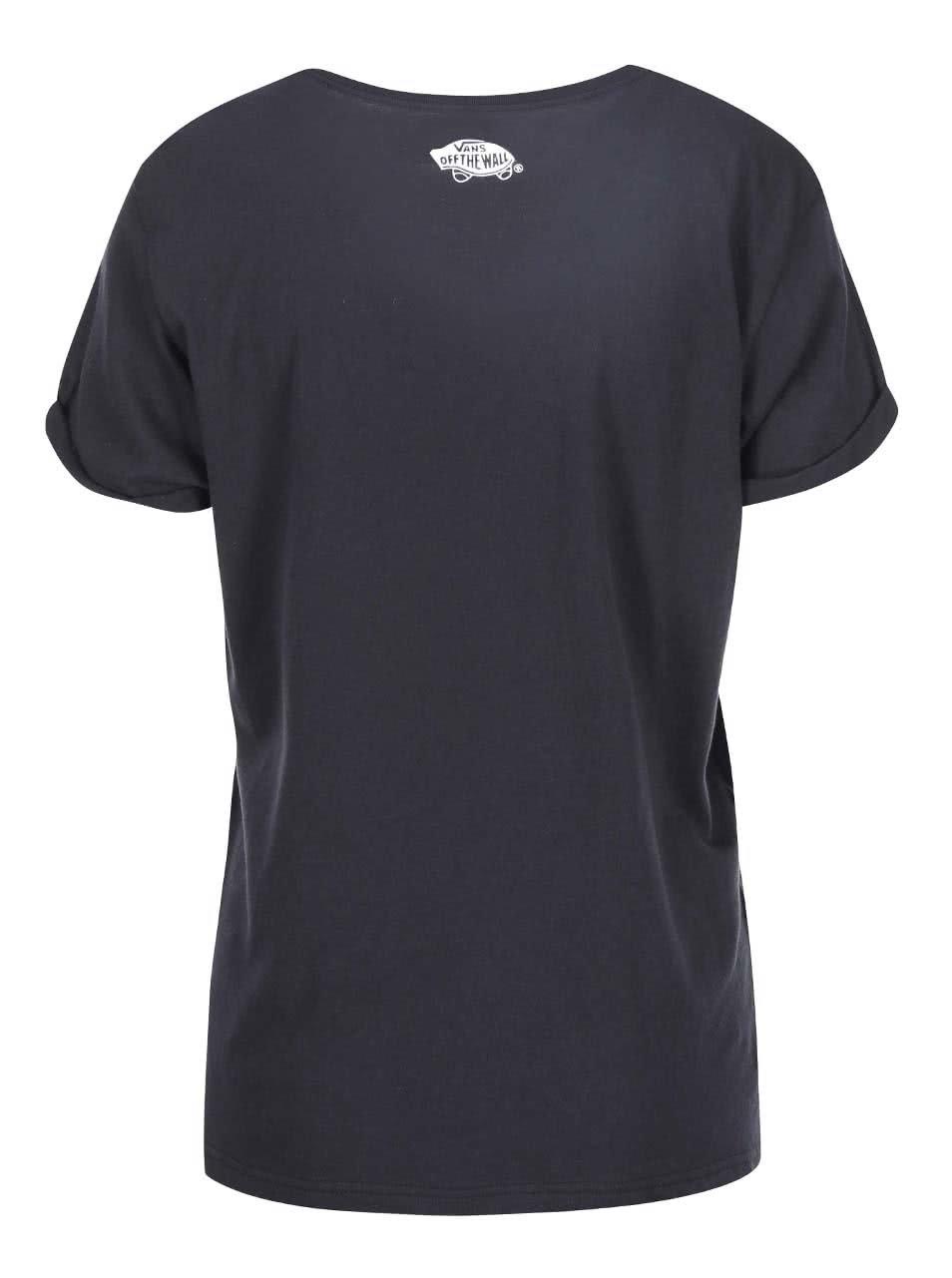 23301b02c Černé dámské tričko s barevnou kapsou Vans | ZOOT.cz