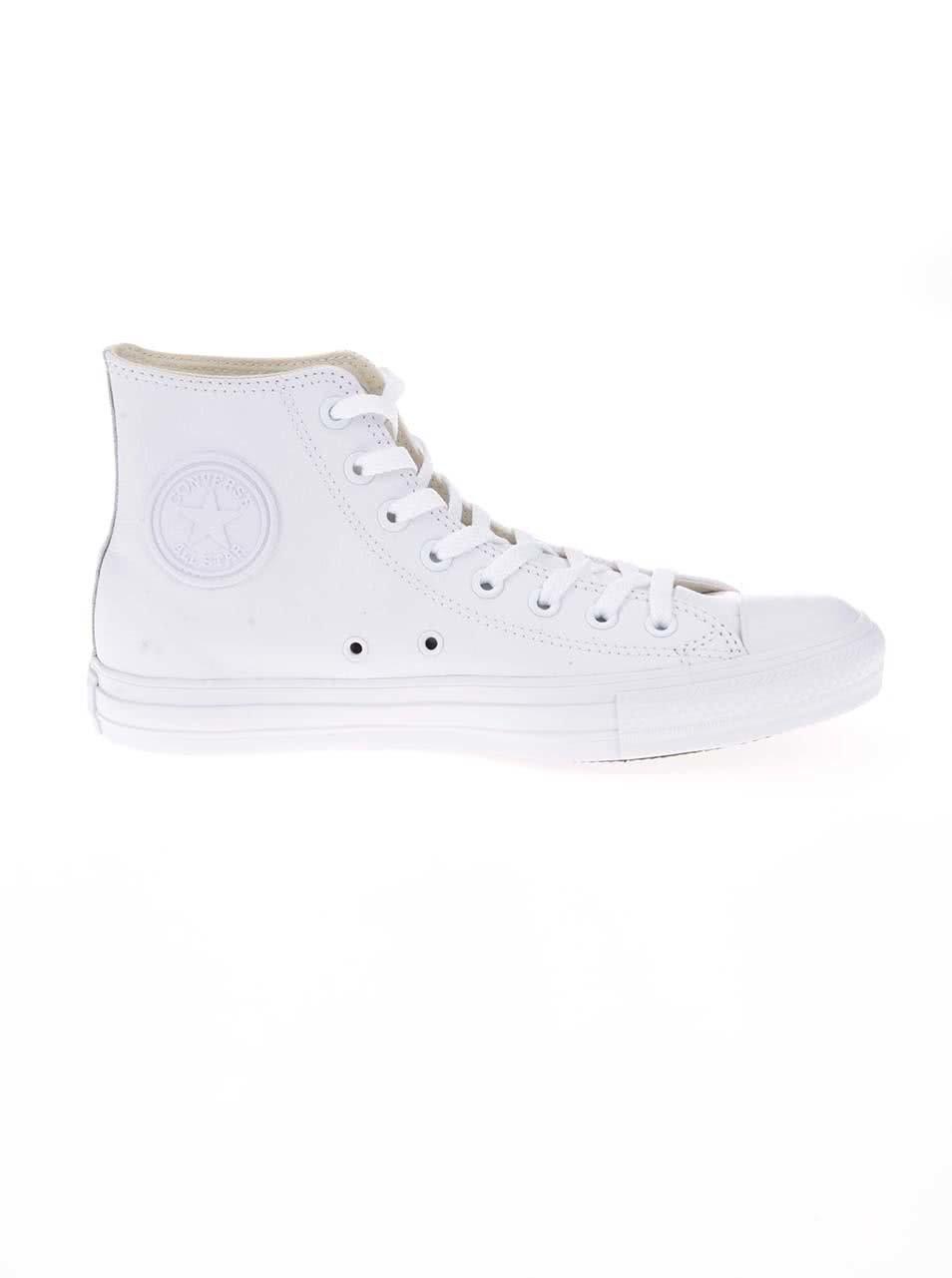 Bílé unisex kožené kotníkové tenisky s logem Converse Chuck Taylor All Star  ... e09b633b88