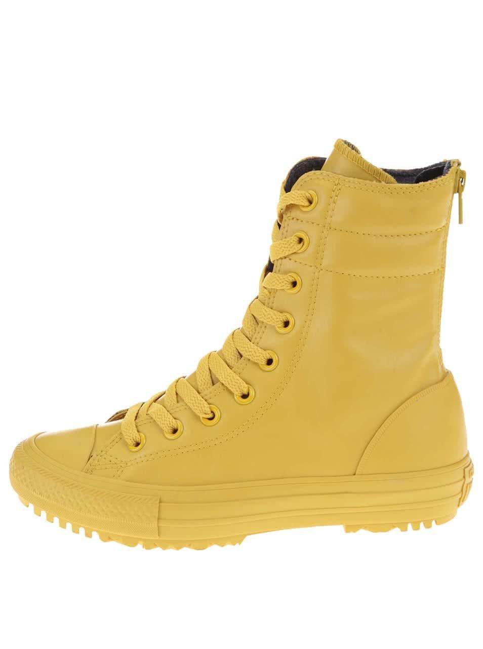 cbac350d869 Žluté dámské kotníkové tenisky Converse Chuck Taylor All Star Hi-Rise ...