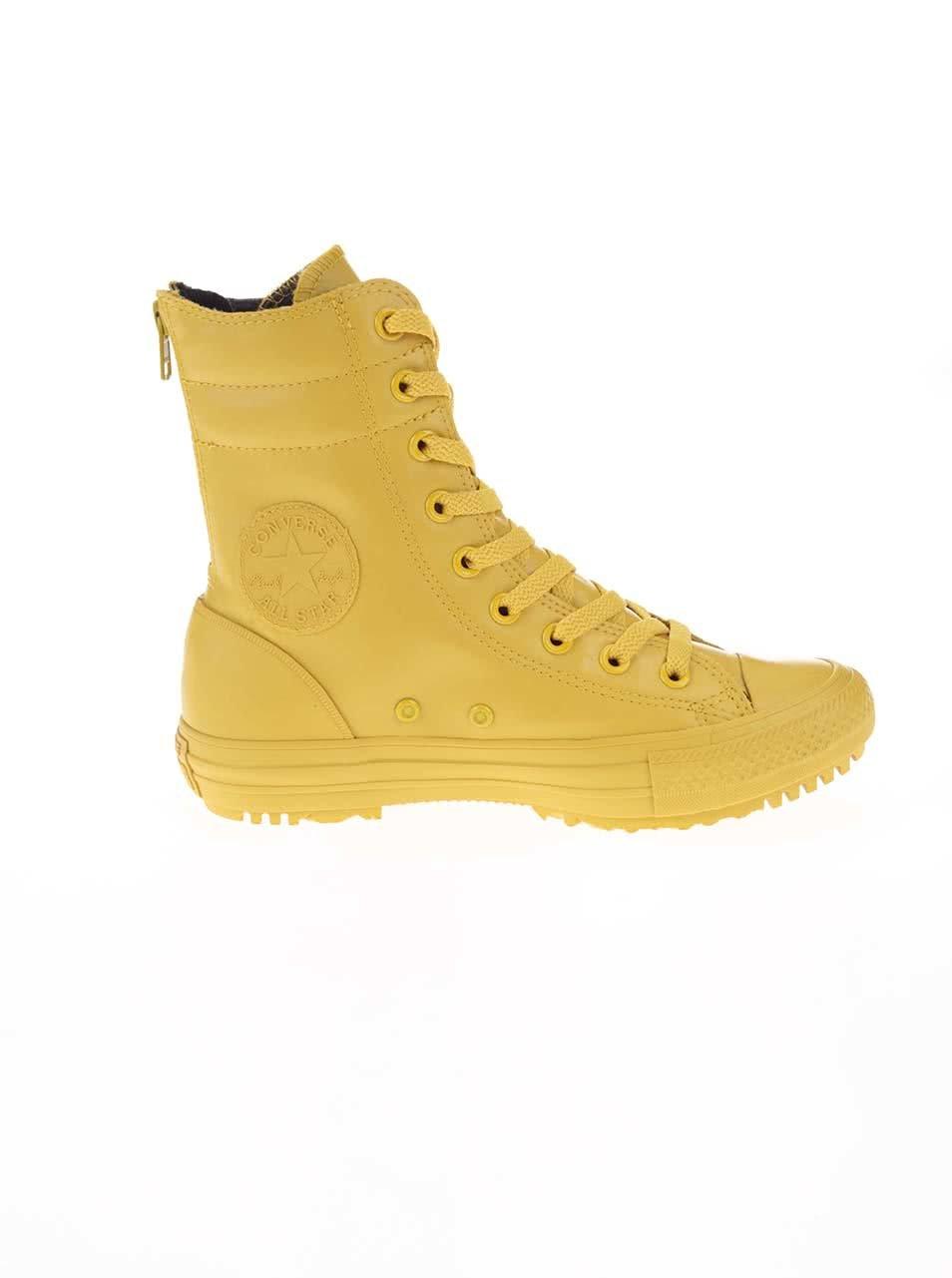 Žlté dámske členkové tenisky Converse Chuck Taylor All Star Hi-Rise ... edda1536d44