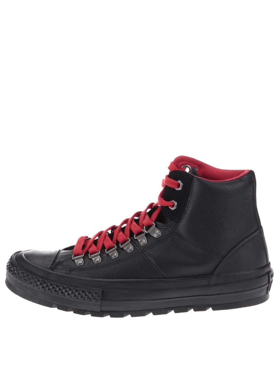 Čierne pánske kožené členkové tenisky Converse Chuck Taylor All Star Street  Hiker ... 41f0356b039