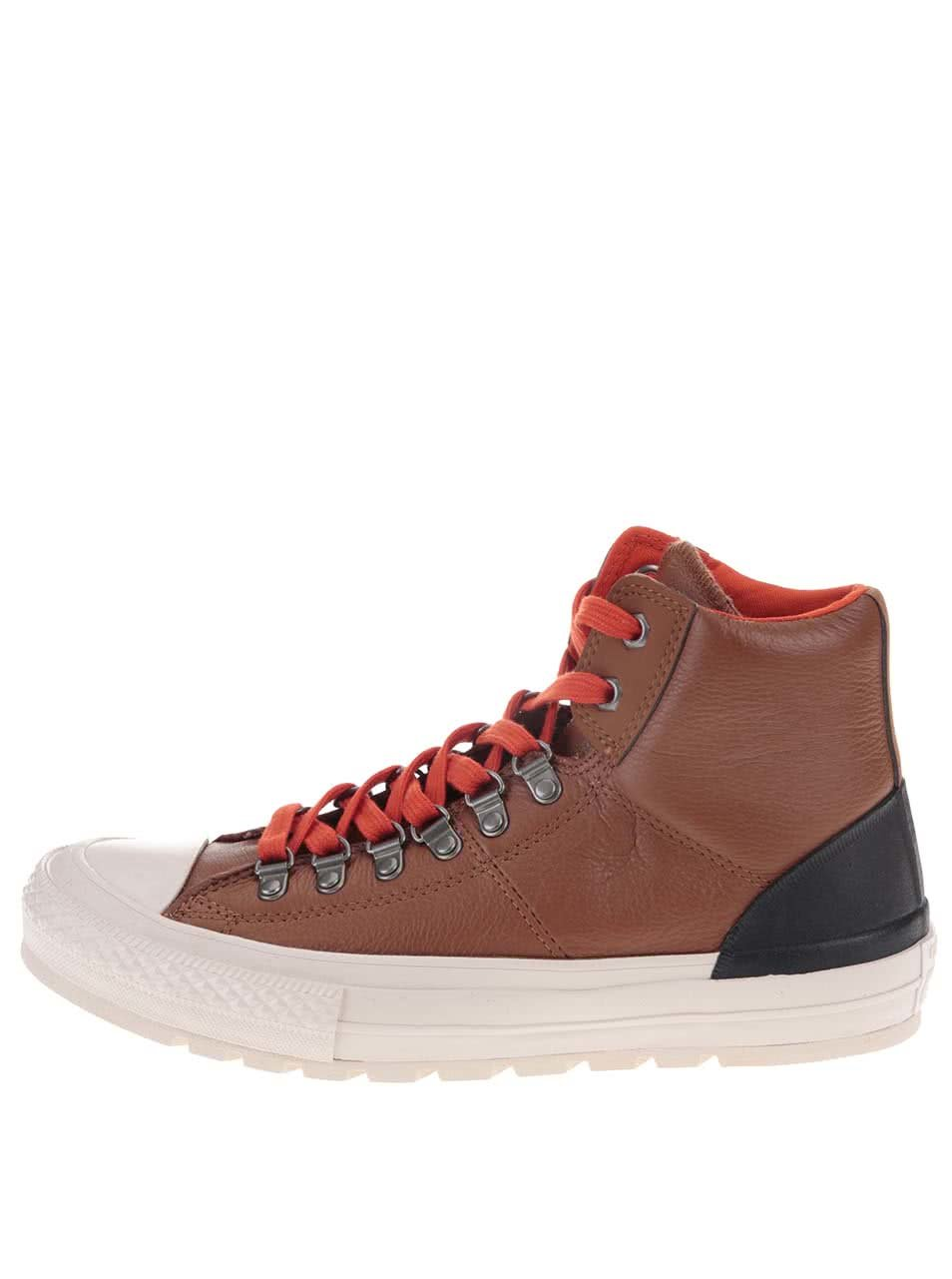 Hnědé pánské kožené kotníkové tenisky Converse Chuck Taylor All Star Street  Hiker ... 385d445e123