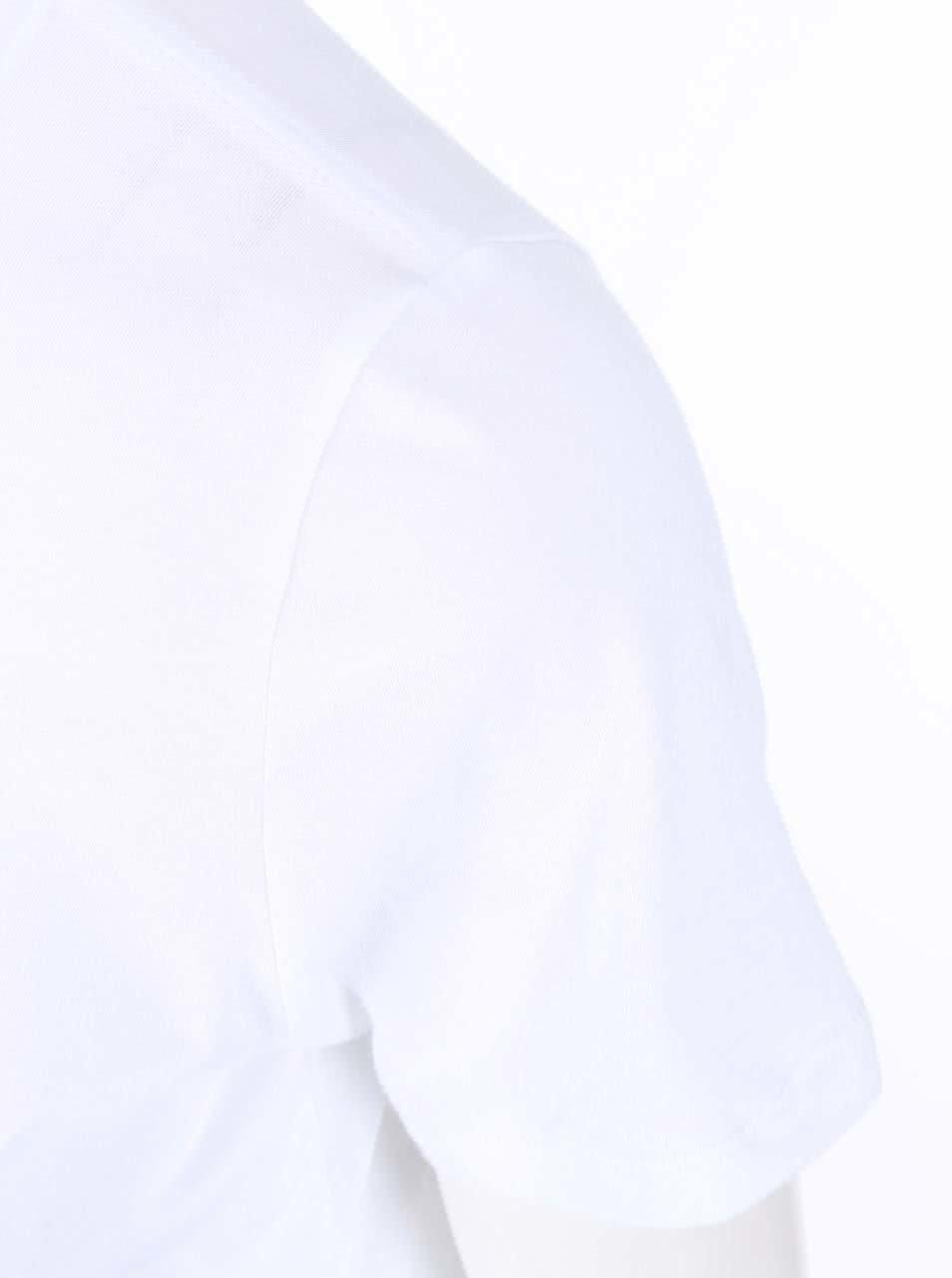 4813c88d18c Bílé dámské tričko s barevným logem Converse ...