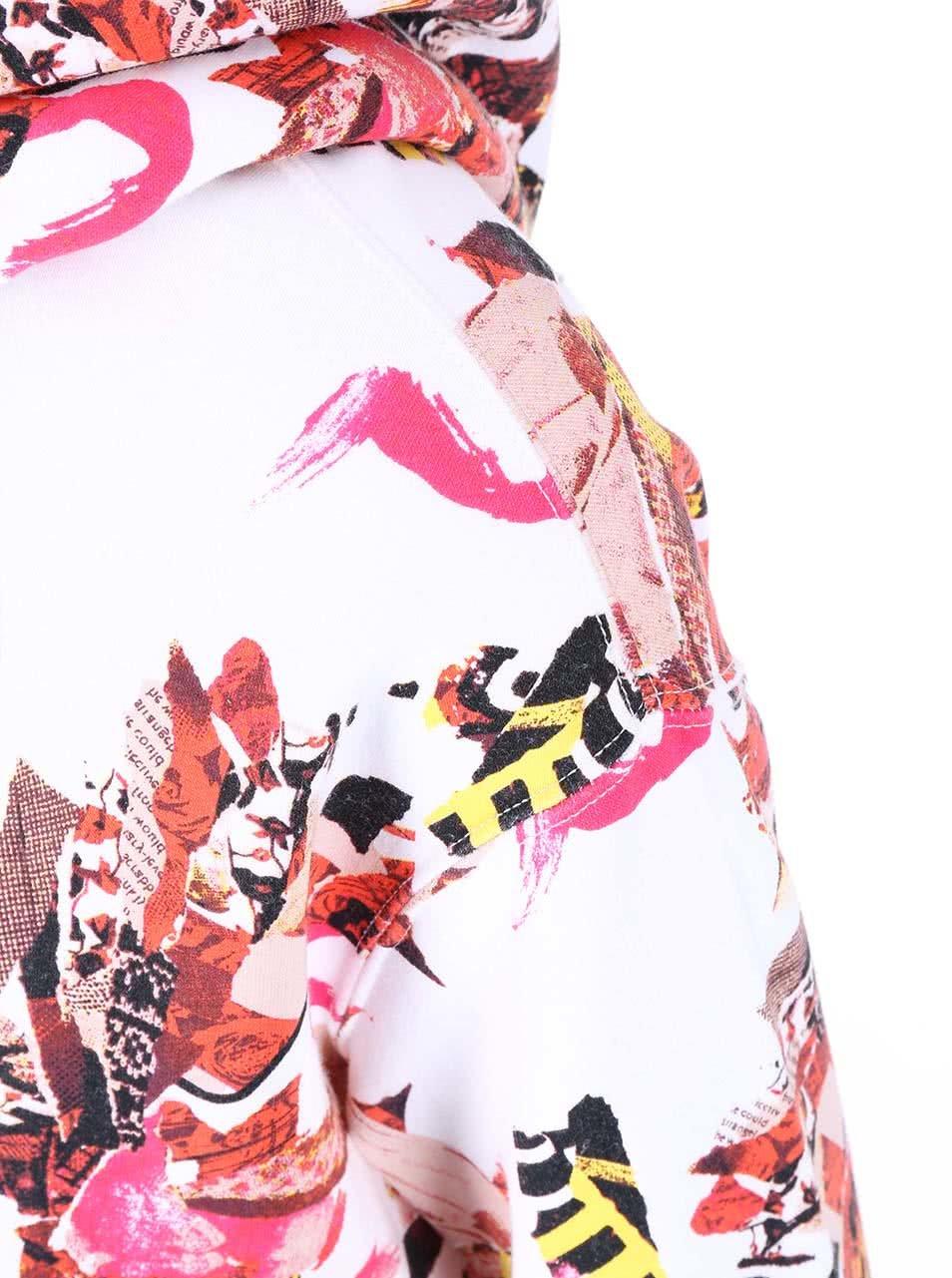 Červeno-bílá dámská vzorovaná mikina Converse ... e7528ed4567