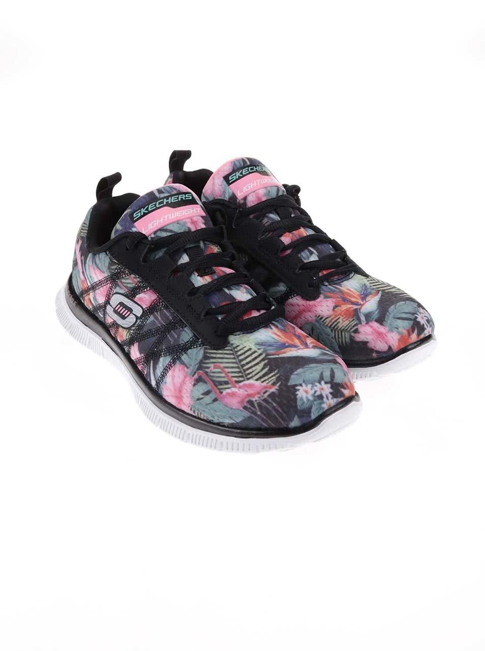 533d87ba22ac2 Farebné dámske športové tenisky so vzorom Skechers Floral Bloom ...