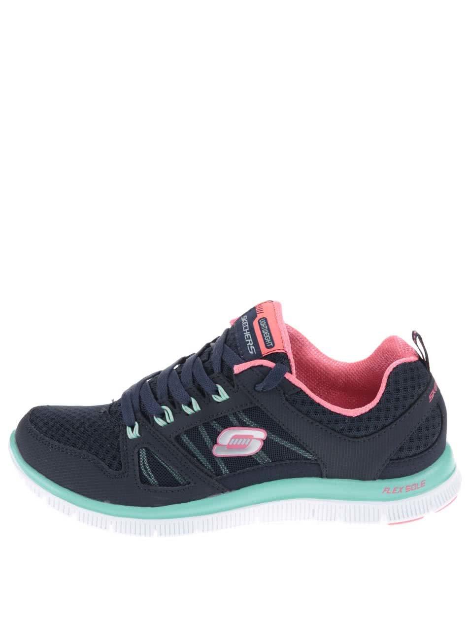 Tmavě modré dámské sportovní tenisky Skechers Adaptable ... 2cddc44631