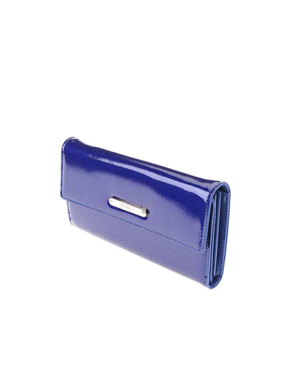 Tmavomodrá lesklá peňaženka Gessy ... a29fc705386