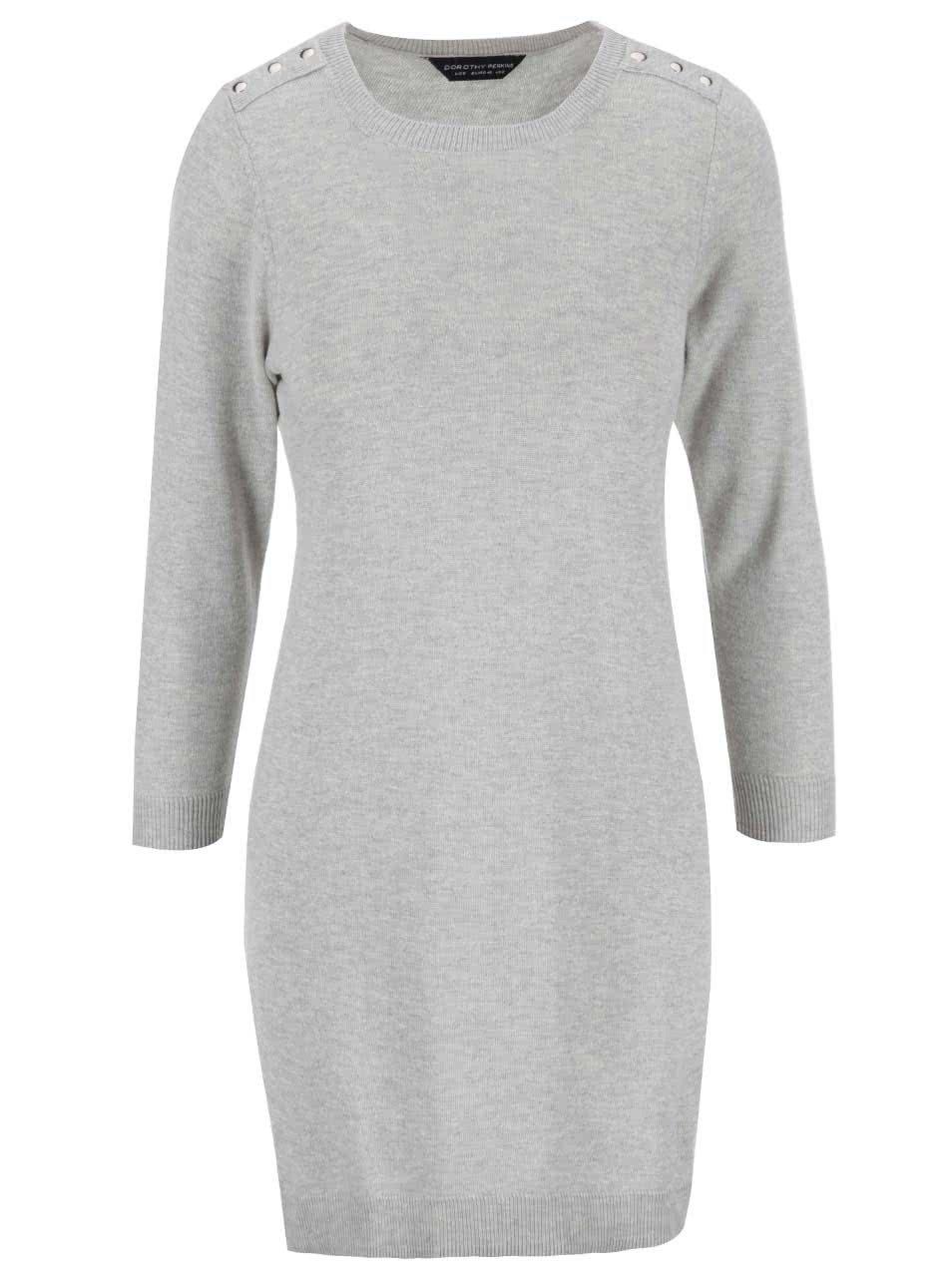 a3f4e731c931 Sivé svetrové šaty Dorothy Perkins ...