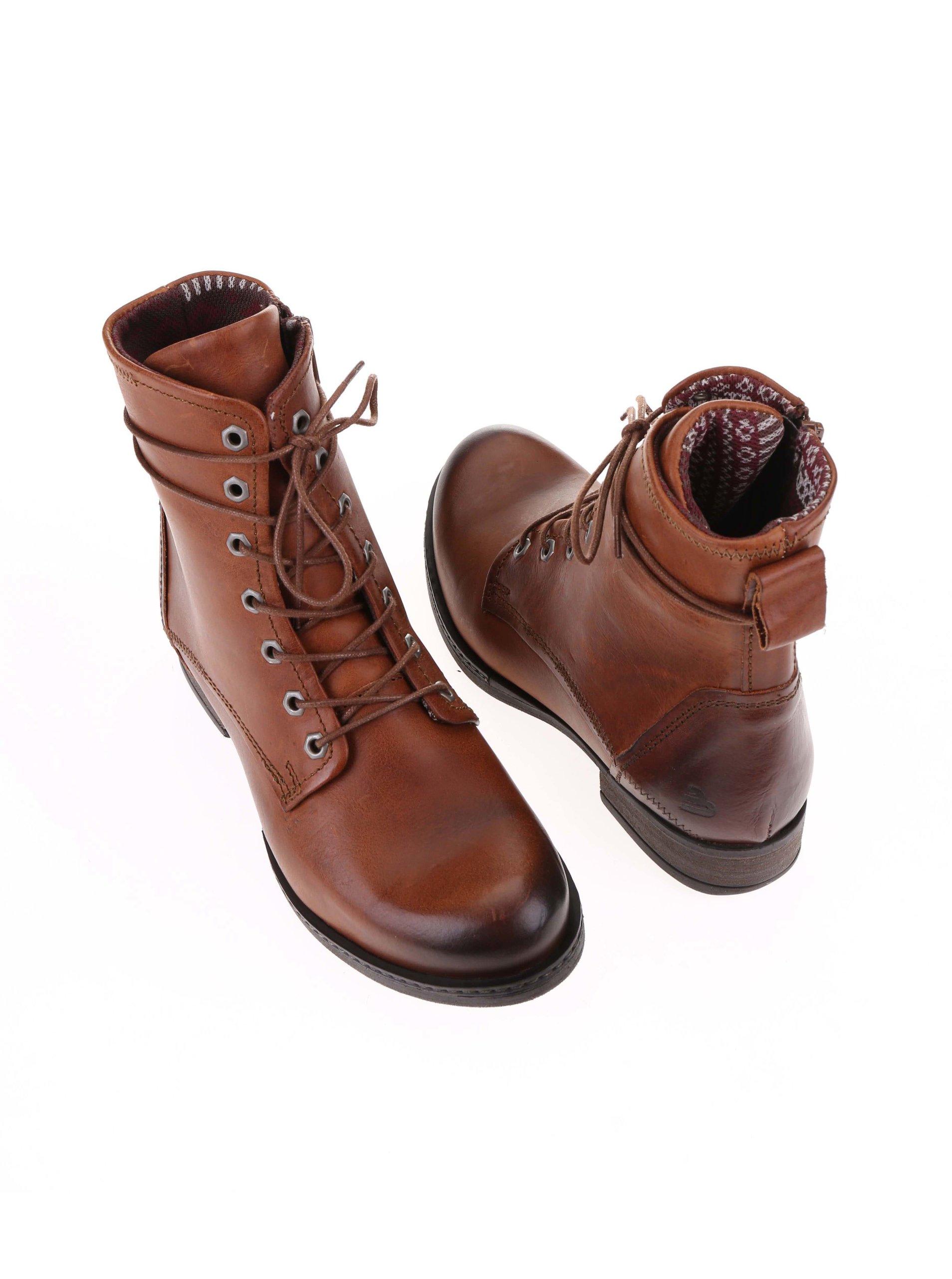 352e1e84c0c8f Hnedé dámske kožené šnurovacie topánky Bullboxer | ZOOT.sk
