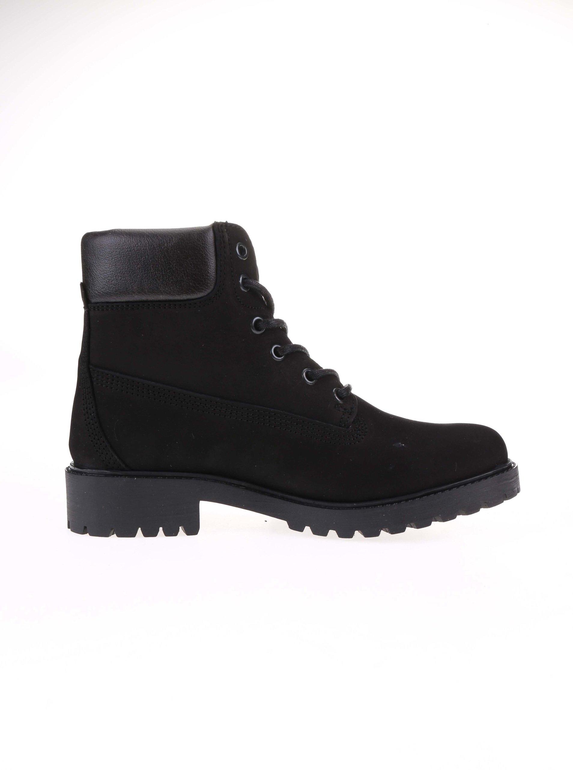 Čierne dámske kožené topánky na šnurovanie Bullboxer ... fc59fa868d3