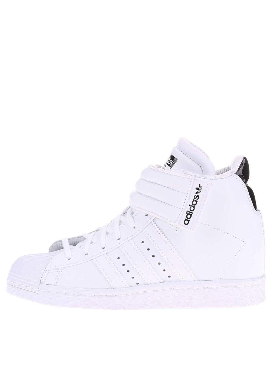 Biele dámske členkové tenisky adidas Originals Superstar UP Strap ... 7eb92f1d28e