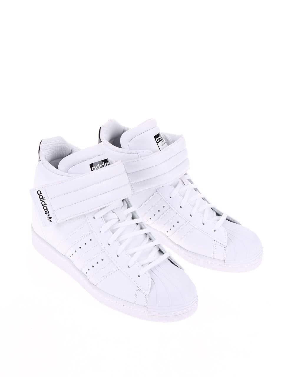 df6a09288b Biele dámske členkové tenisky adidas Originals Superstar UP Strap ...