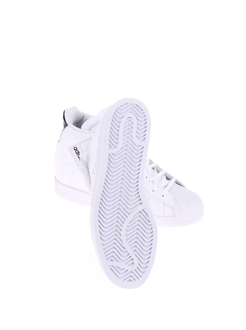 ba0f9f3e5ab4 Biele dámske členkové tenisky adidas Originals Superstar UP Strap ...
