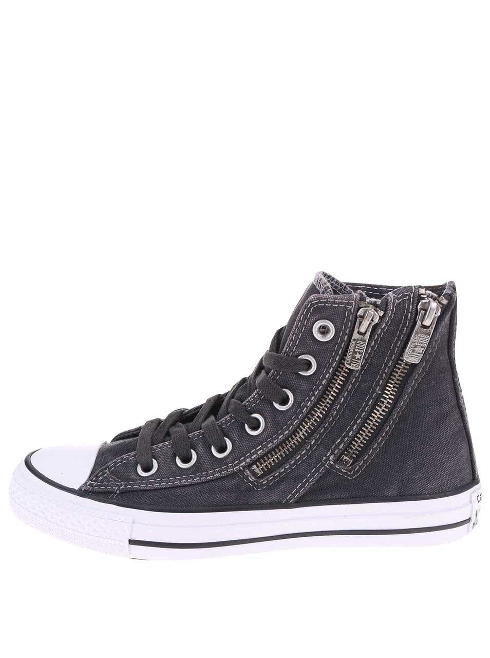 Černé dámské žíhané tenisky Converse Chuck Taylor Dual Zip ... 0c69ad687c