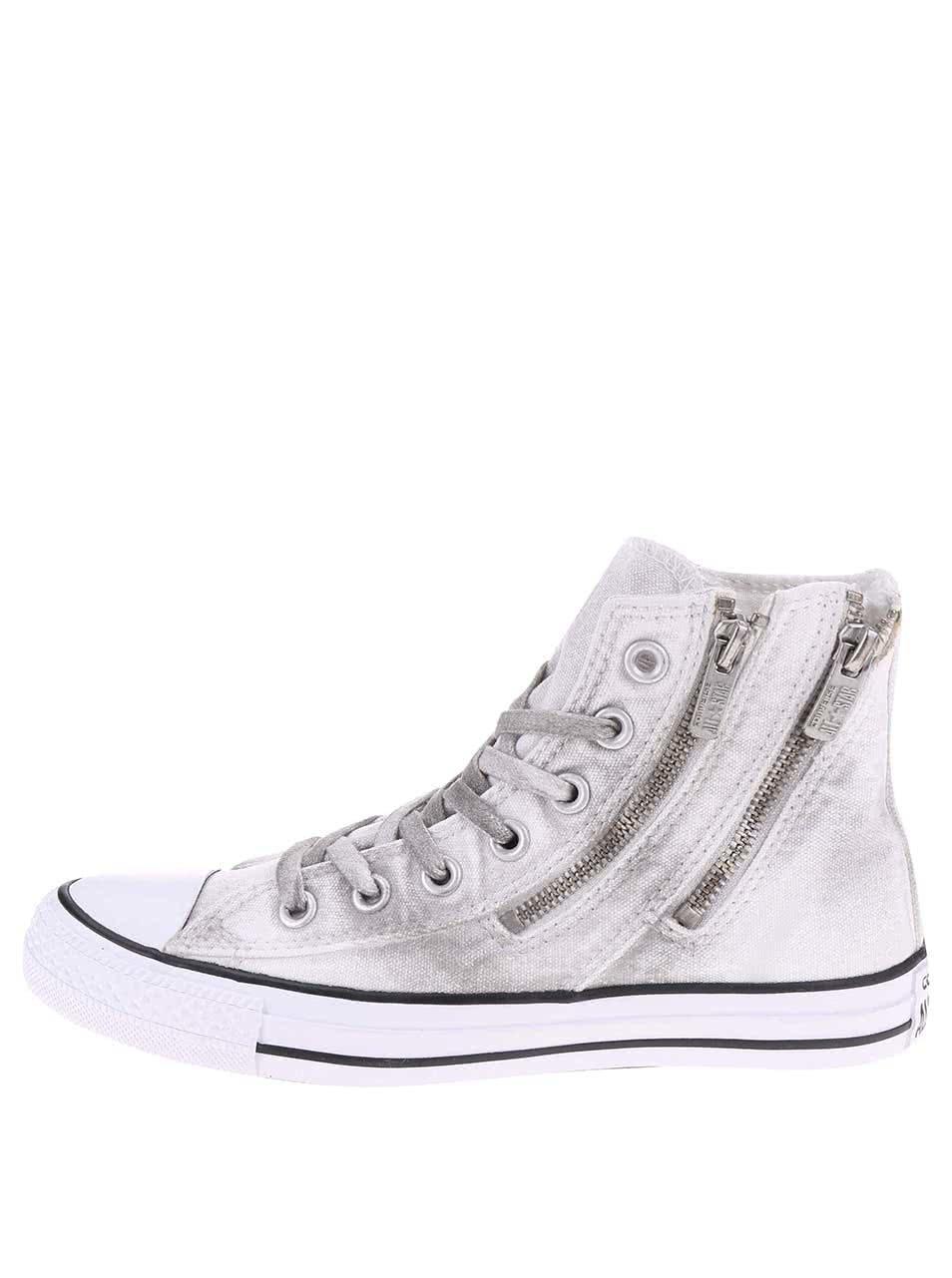 Šedo-bílé dámské tenisky Converse Chuck Taylor Dual Zip ... 336d46d2c4