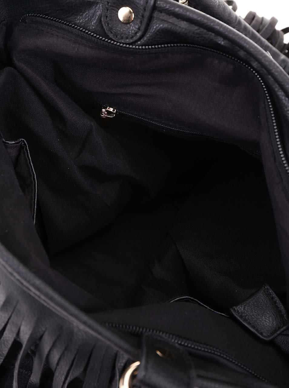 71bc5e2fc1 Čierna kabelka so strapcami Gessy ...