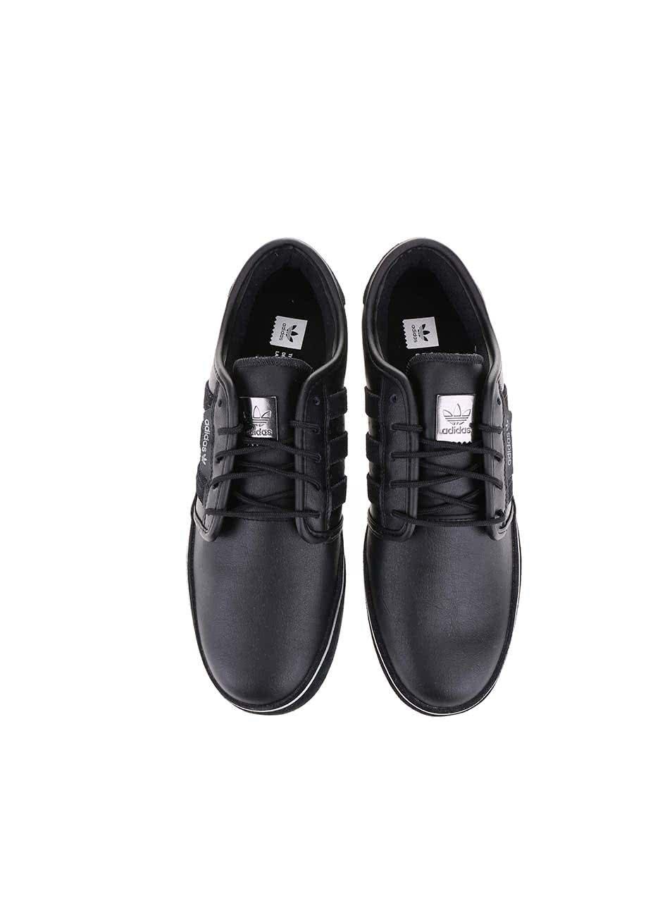 Černé pánské kožené tenisky adidas Originals Seeley ... 6ef493a34ed