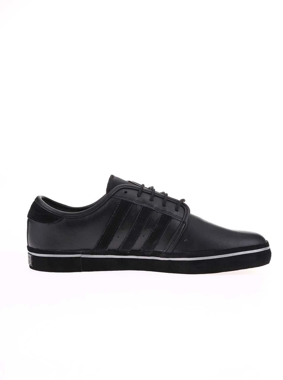 0e7be7131 Černé pánské kožené tenisky adidas Originals Seeley | ZOOT.cz
