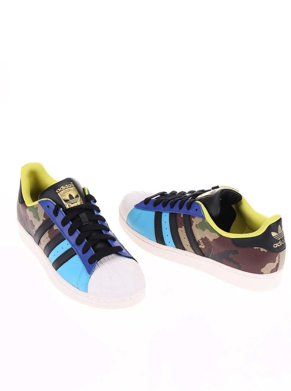 Farebné pánske tenisky s maskáčovým vzorom adidas Originals Superstar Oddity  PA ... 73505ccfca6